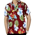 La Leela Hawaiian Shirt For Men Short Sleeve Front-Pocket Printed In Many Colors