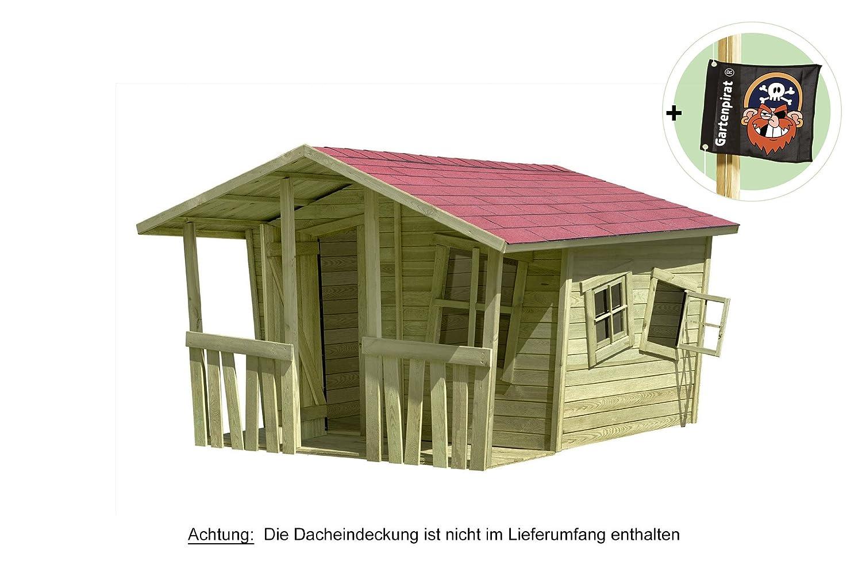 Spielhaus Gartenhaus Lisa-Fun aus Holz 207x200 cm von Gartenpirat®