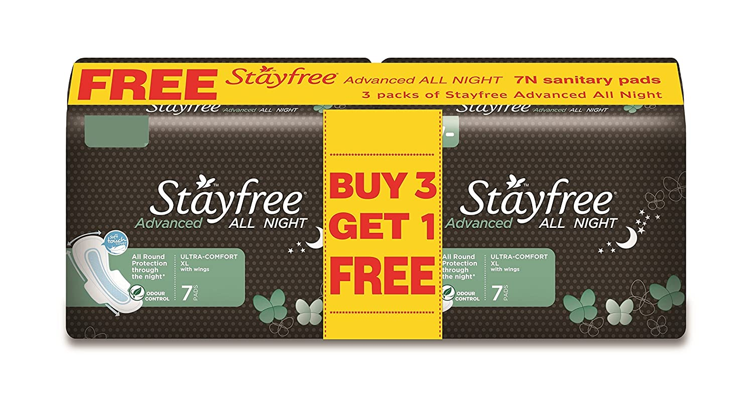 Stayfree Advanced All Night - 7s Buy 3 Get 1 Free (28 pads