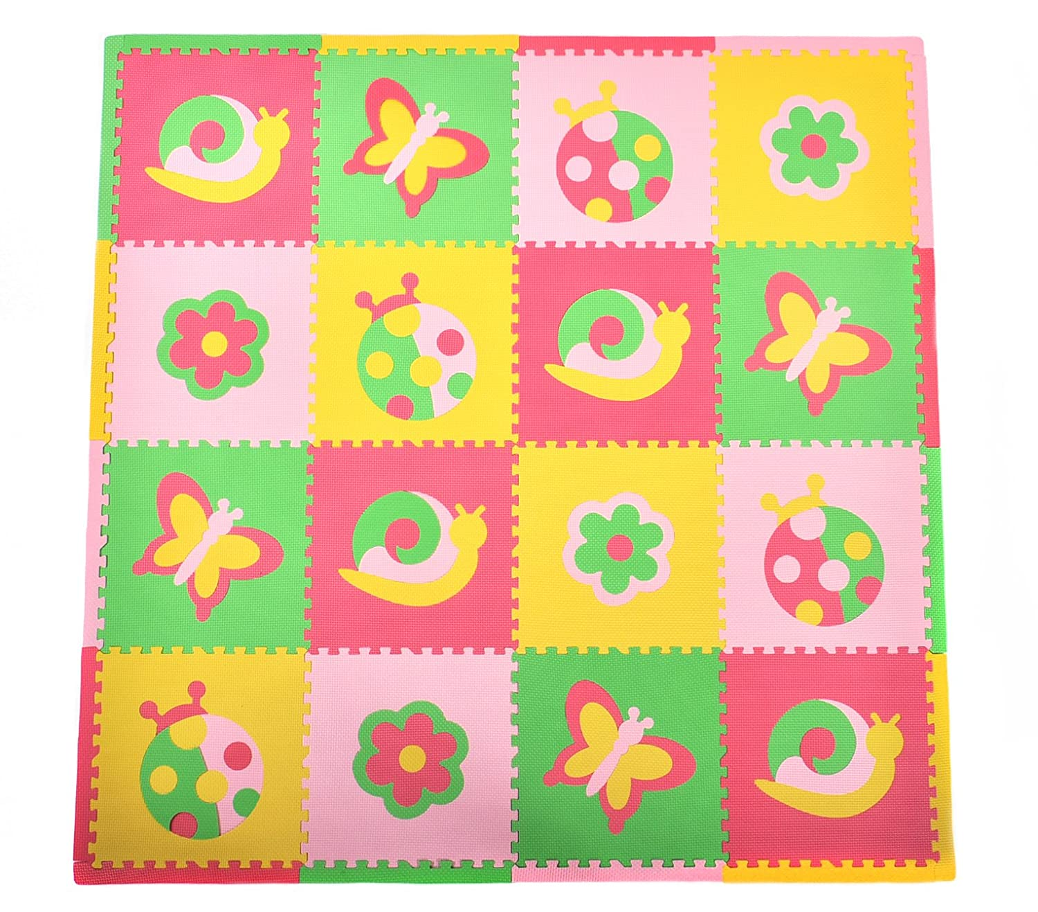 Tadpoles Playmat Set, Friendly Bugs Pink