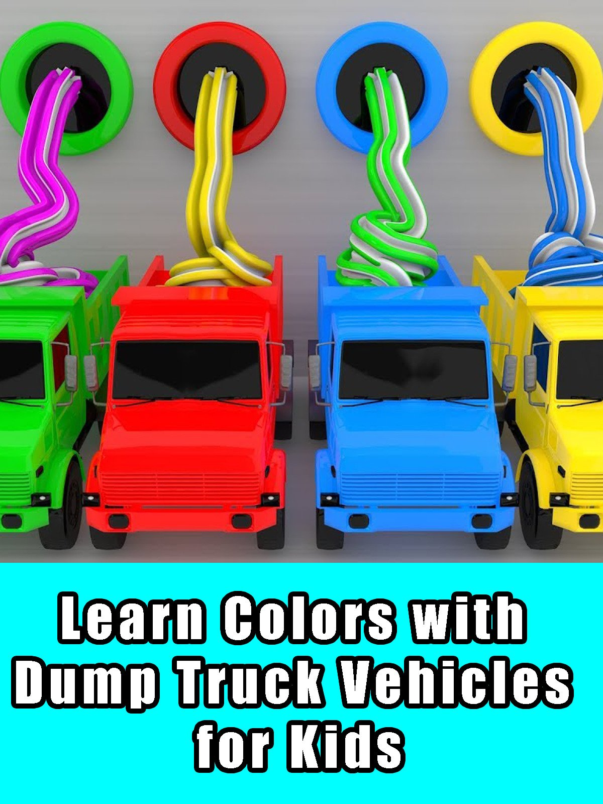 Learn Colors with Dump Truck Vehicles for Kids