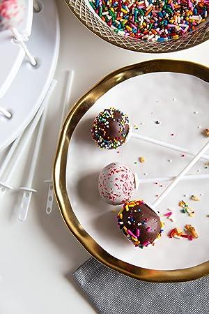 Bakelicious 73864 Cake Pop Plastic Sticks, Set of 12,  White (Color: Cake Pop Sticks, Tamaño: 0.01 x 0.63 x 0.63 inches)