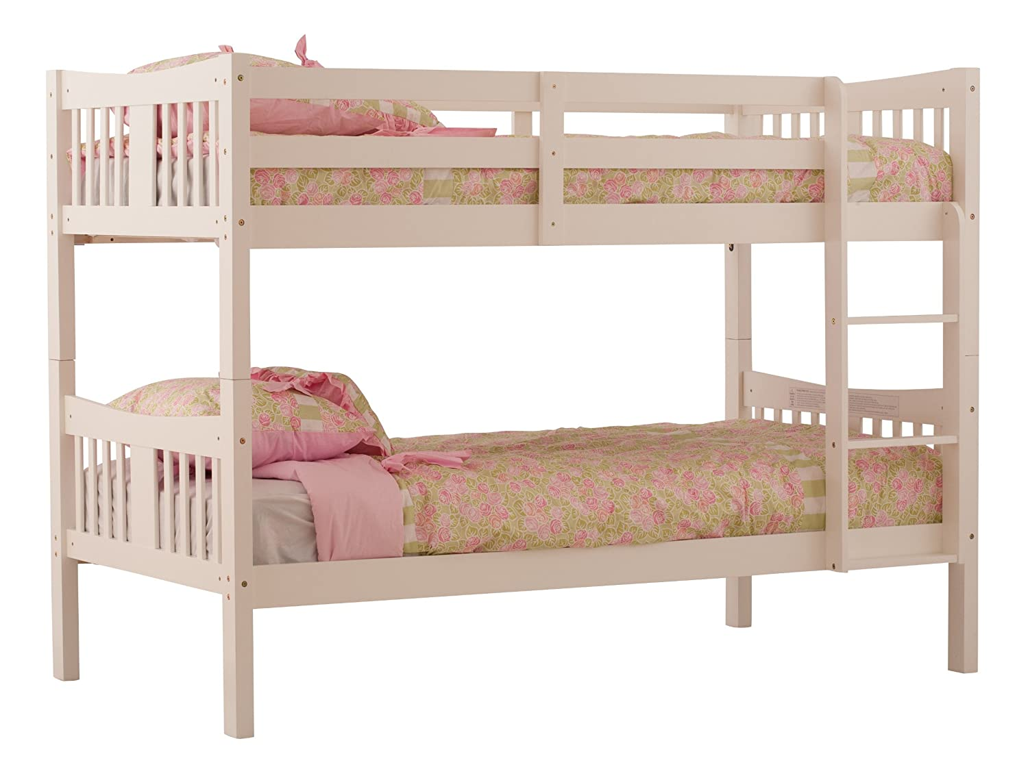 Sale storkcraft wood bunk beds converts to 2 twin beds for White twin beds for sale