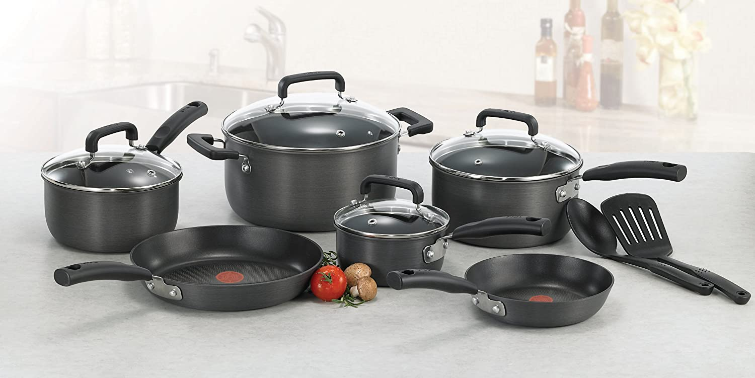 t fal d913sc64 signature hard anodized oven safe durable nonstick thermo spot he ebay. Black Bedroom Furniture Sets. Home Design Ideas