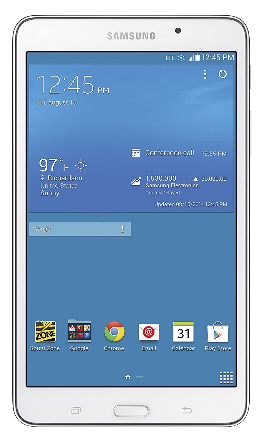 Samsung Galaxy Tab 4 4G LTE Tablet, White 7-Inch 16GB (Sprint)