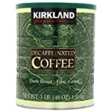 Kirkland Signature Dark Rost Fine Grind Decaf Arabica Coffee,  48 Ounce (Color: Coffee, Tamaño: 48 Ounce)