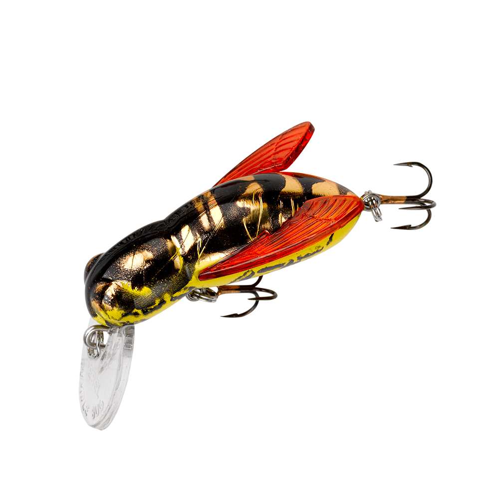 Rebel bumble bug hornet color pattern fishing lure for Spinner fishing lures