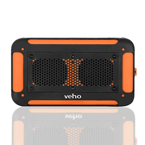 Veho Vecto Water Resistant Speaker Orange, VXS-002-ORG (Orange Wireless, w/ 6000 mAh Charger)