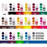 Bath Bombs Color Dyes - 16 Liquid Colors for Soap Coloring - 0.17 oz 16 Bottles - Soap dye-Soap Making Colorants Set (Tamaño: 16)