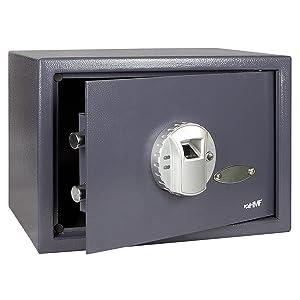 HMF 49123 Tresor Möbeltresor Fingerabdruck Fingerscan FS25M , 330 x 250 x 250 cm , anthrazit  BaumarktKundenbewertung und Beschreibung