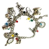 BlingSoul Wonderland Alice Jewelry Merchandise Gifts – Wonderland Alice Bracelet… (Color: Wonderland Alice Charm Bracelet, Tamaño: One Size)
