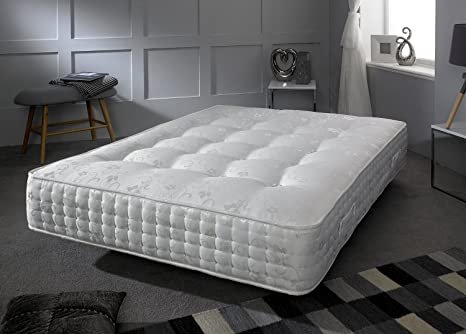Pocket 3000 Mattress Signature Crystal 3000 - Luxury Silk Cover - 3000 Pocket Count - 4ft - Small Double (120 x 190 cm)