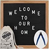 Letter Board - 10'' x 10'' Black Felt Letter Board with 400 Letters, Changeable Letter Board 10x10 Word Board,Business Message Board, Letter Sign with Mounting Hook Canvas Bag +Cute Scissors VAG021 (Color: Black, Tamaño: 10