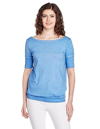 People Women's Peplum Top (P20401094846119_Blue Wave_Small)