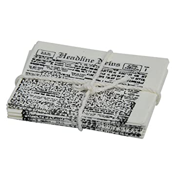 Miniature - Newspaper Bundle - 1-5/8 inches