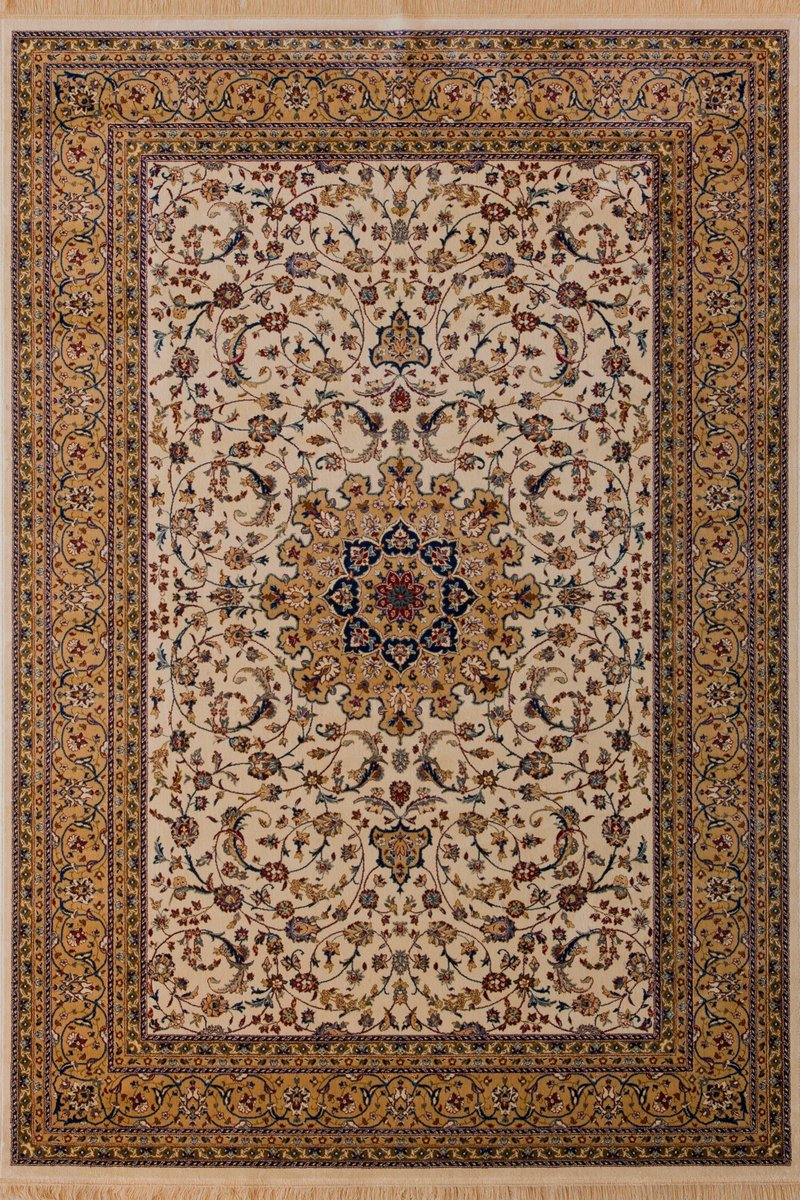 Lalee 460238272 Klassischer Teppich mit Fransen / Weich / Seidenglanz / Muster  orientalisch / Creme / Grösse  200 x 300 cm  Kundenbewertungen