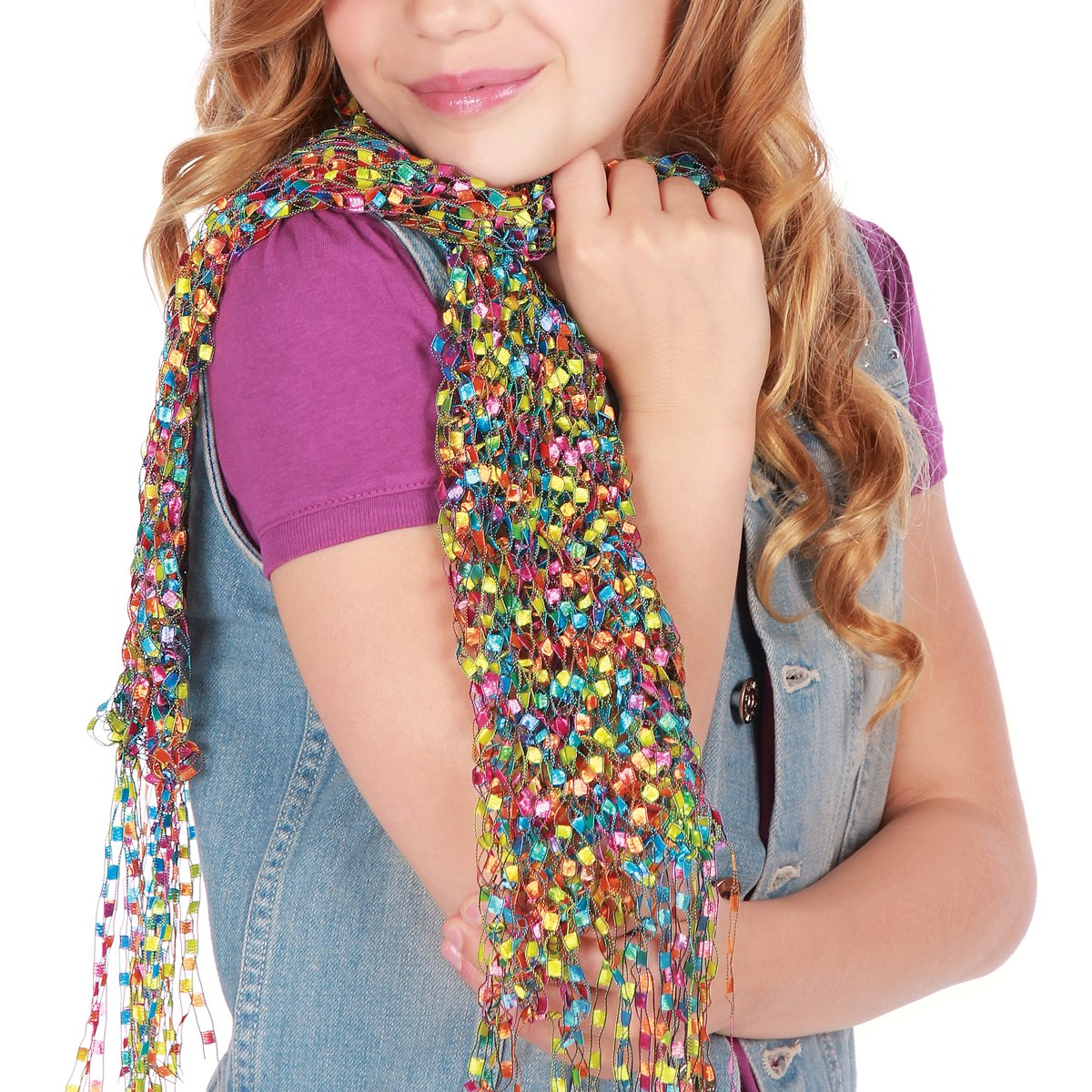 Your tween girl can make one of these scarves!