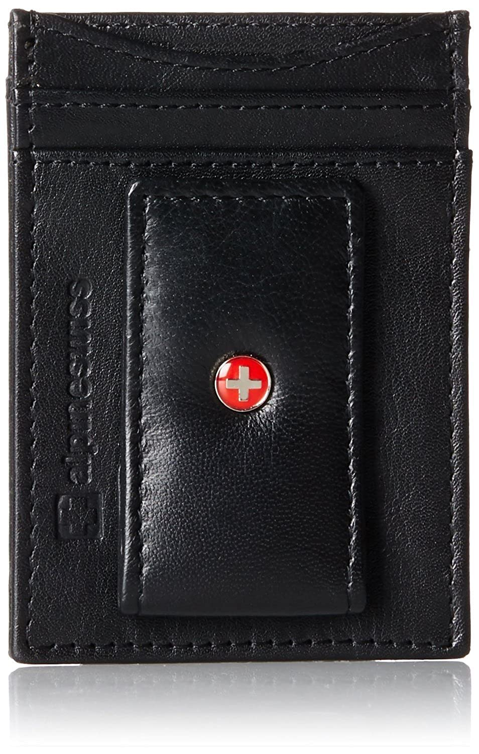 Фото - Genuine Leather Money Clip front pocket wallet with magnet clip and card ID Case man clutch wallet card leather bag pockets bifold money clip black blue
