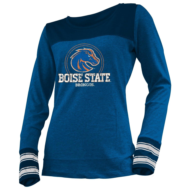 Boise state broncos women 39 s striped long sleeve t shirt for Boise t shirt printing