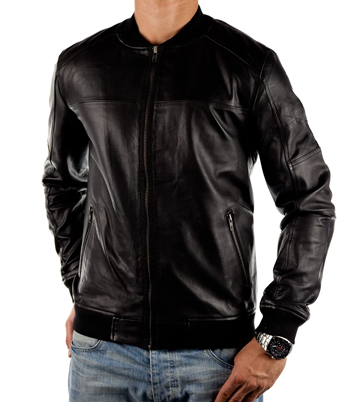 JACK & JONES – REMY Herren Lederjacke Bikerjacke Echtleder Leatherjacket – NEU günstig kaufen
