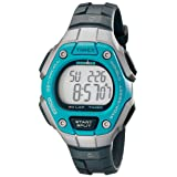 Timex Women's Ironman 30-Lap Digital Quartz Mid-Size Watch, Black/Silver-Tone/Blue - TW5K89300