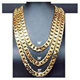 14K Gold Chain Cuban Necklace 11MM Miami Link w/ real solid clasp USA Patented w/ Signed Warranty 24Inch (30)