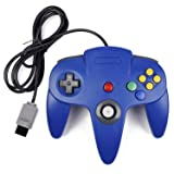 JAMSWALL N64 Controller Joystick for N64 System Pad Mario Kart (Color: blue)