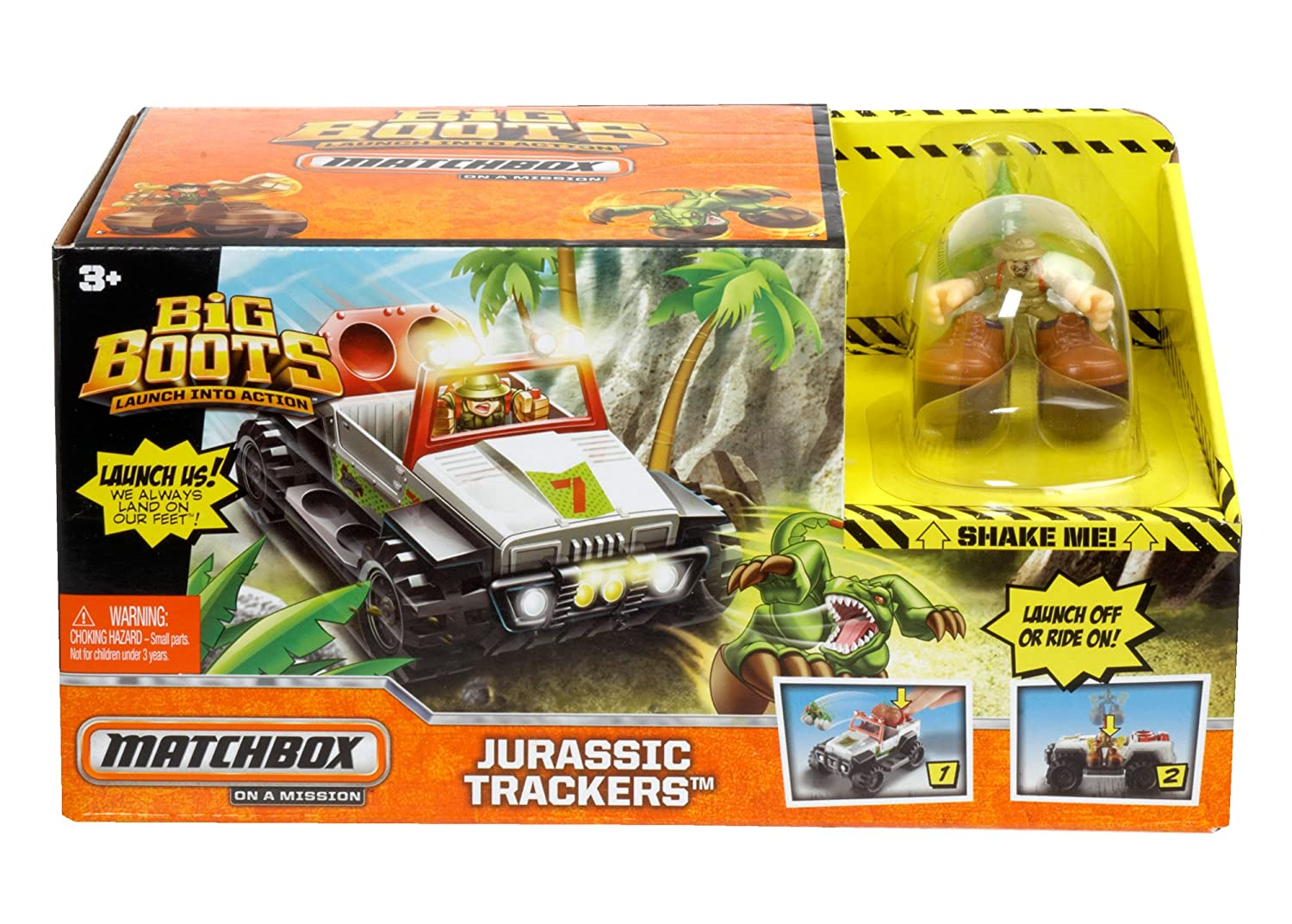 Matchbox Big Boots Play set – Jurassic Trackers – Includes Truck and 2 Characters jetzt kaufen