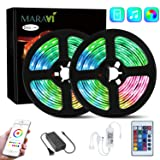 LED Strip Lights, Maravi 32.8ft/10M RGB WiFi LED Light Strip 5050SMD Color Changing LED Strip Lights with Remote,Sync to Music RGB Rope Light with Alexa & APP Controller for Home DIY Decoration (Color: Multicolor)