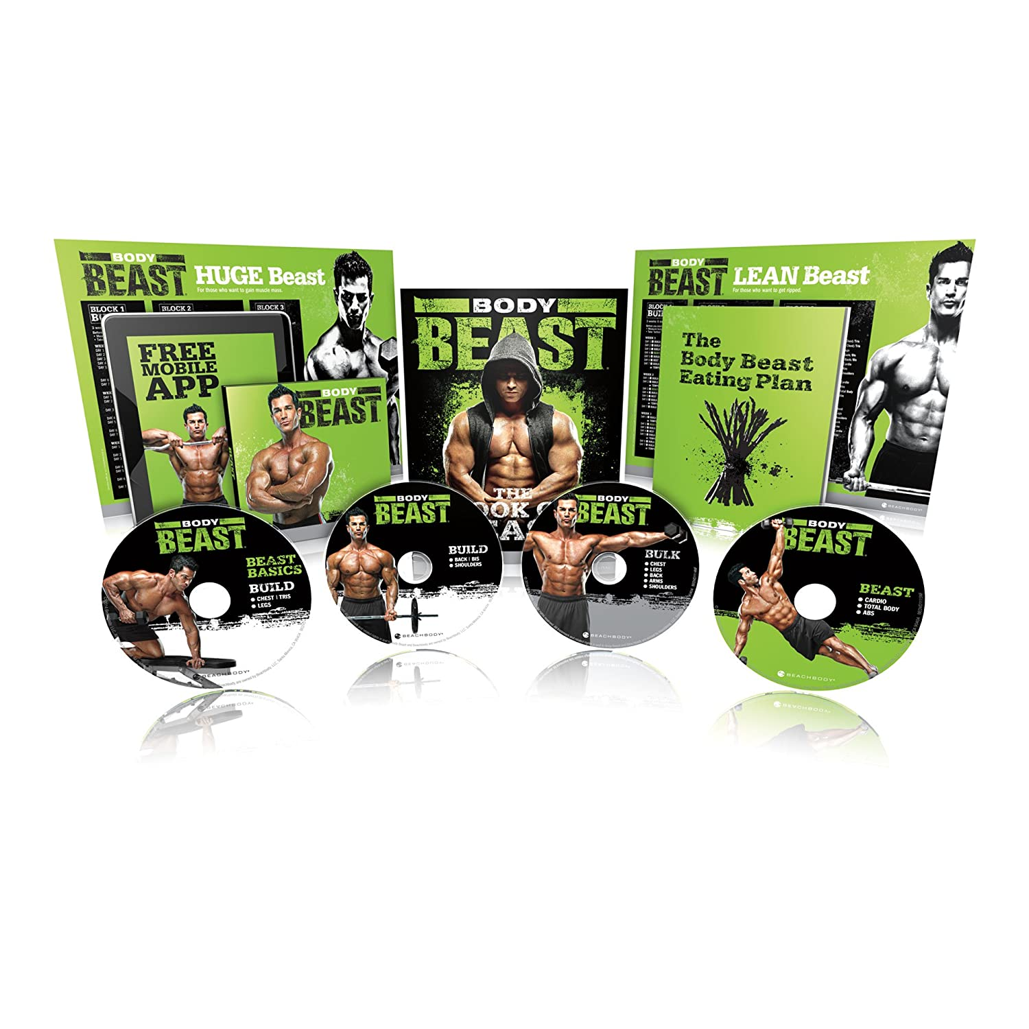 Body Beast DVD Workout Base Kit 90 Day Lean Muscle Build 10 lbs New