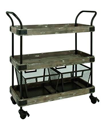 HAKU Furniture 27909 trolley black-vintage, W: 86 x D: 34 x H: 96 cm