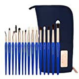 Bdellium Tools Professional Makeup Brush Golden Triangle Eyes Only - 15pc. Brush Set with Stand-Up Pouch (Tamaño: Eyes Only 15pc. Brush Set)