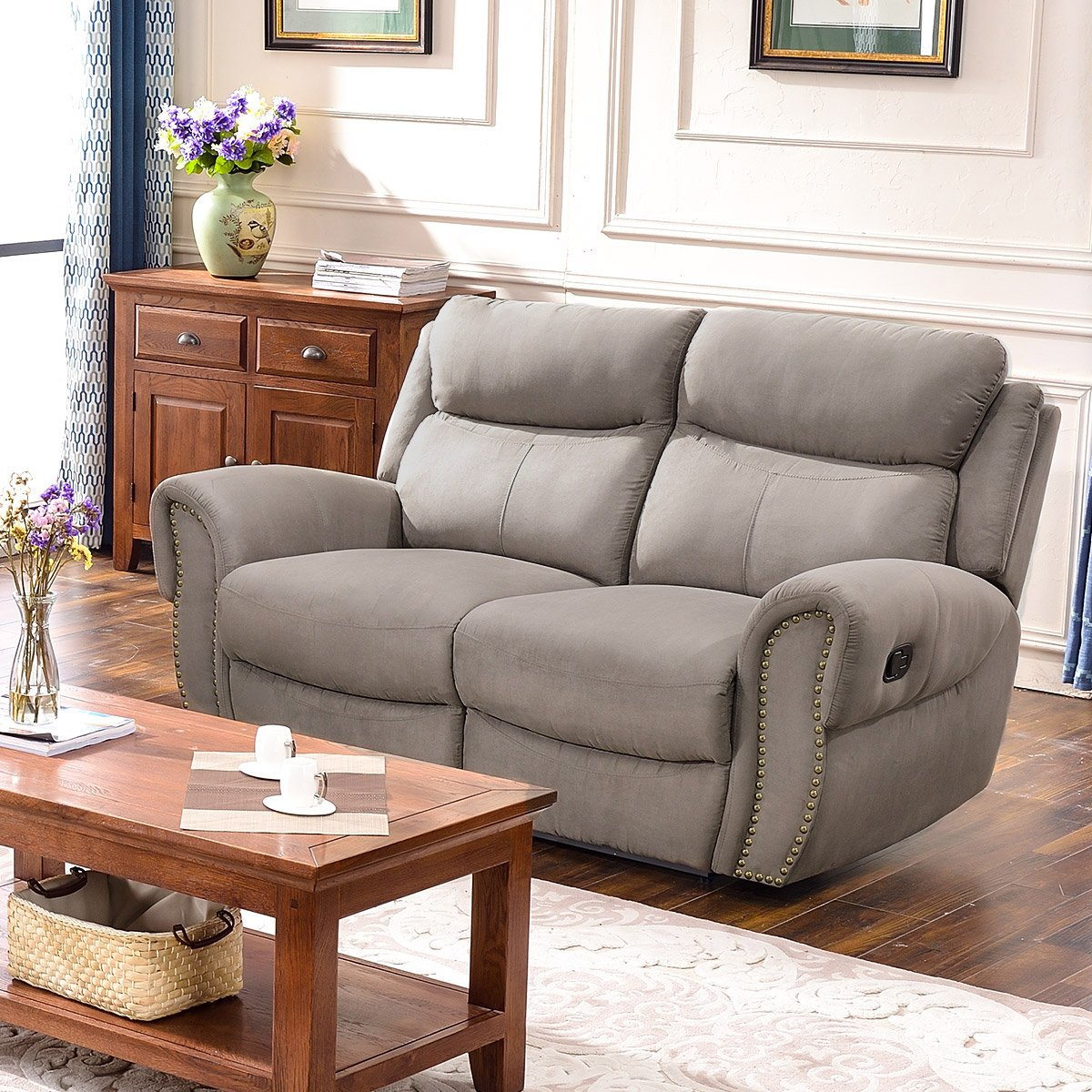 Harper & Bright Designs Sectional Sofa Set Including Chair, Loveseat and 3-Seat Sofa Recliner (Loveseat)