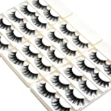 Wleec Beauty Dramatic Eyelashes Set Long Strip Lashes Handmade False Eyelash Pack #27/L (15 Pairs/3 Pack) (Tamaño: F27/L)