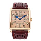 Roger Dubuis Golden Square Mechanical (Automatic) Rose Dial Mens Watch G40 57 5 2.62 (Certified Pre-Owned) (Color: Gold)