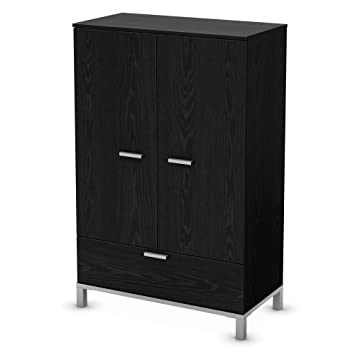 South Shore Flexible Collection Door Chest, Black Oak