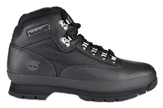 timberland euro hiker boots black