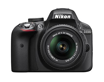 Nikon D3300 24.2 MP CMOS Digital SLR with AF-S DX NIKKOR 18-55mm f/3.5-5.6G VR II Zoom Lens (Black)