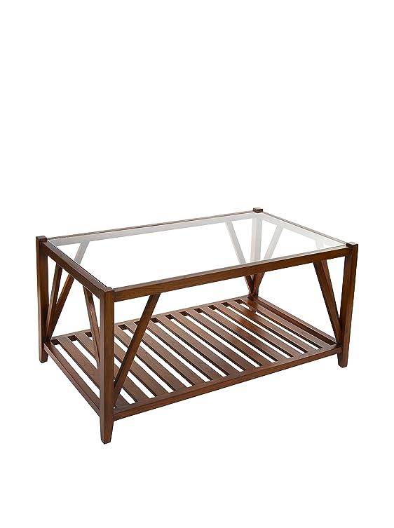 Tavolino con vetro
