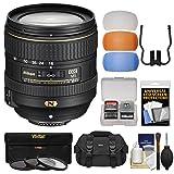 Nikon 16-80mm f/2.8-4E VR DX AF-S ED Zoom-Nikkor Lens with 3 UV/CPL/ND8 Filters + Case + Flash Diffusers + Kit for D3200, D3300, D5300, D5500, D7100, D7200 Camera