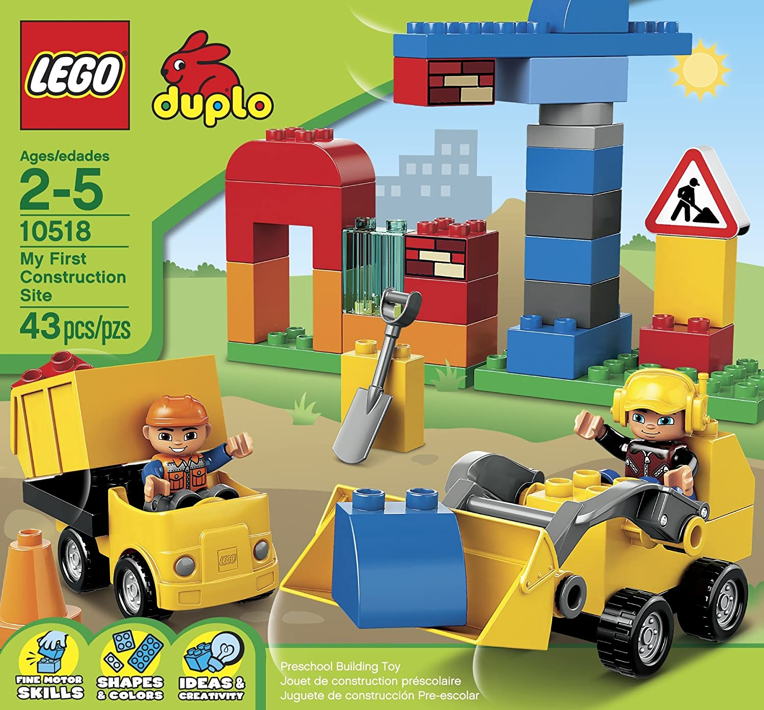 lego duplo town 10518 my first construction site building. Black Bedroom Furniture Sets. Home Design Ideas