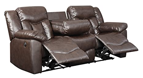 Glory Furniture G925-RS Power Reclining Sofa, Chocolate