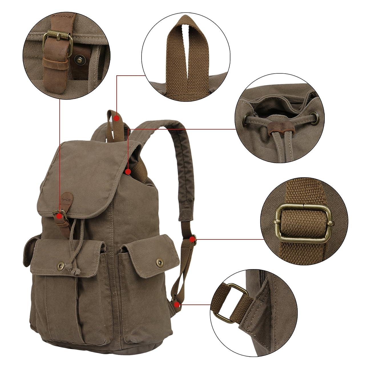 Hynes Eagle Retro Designer Canvas Backpack 28 Liter 3