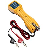 Fluke Networks 19800009 TS19 Telephone Test Set with Angled Bed-of-Nails Clips (Color: yellow, Tamaño: With ABN Clips)
