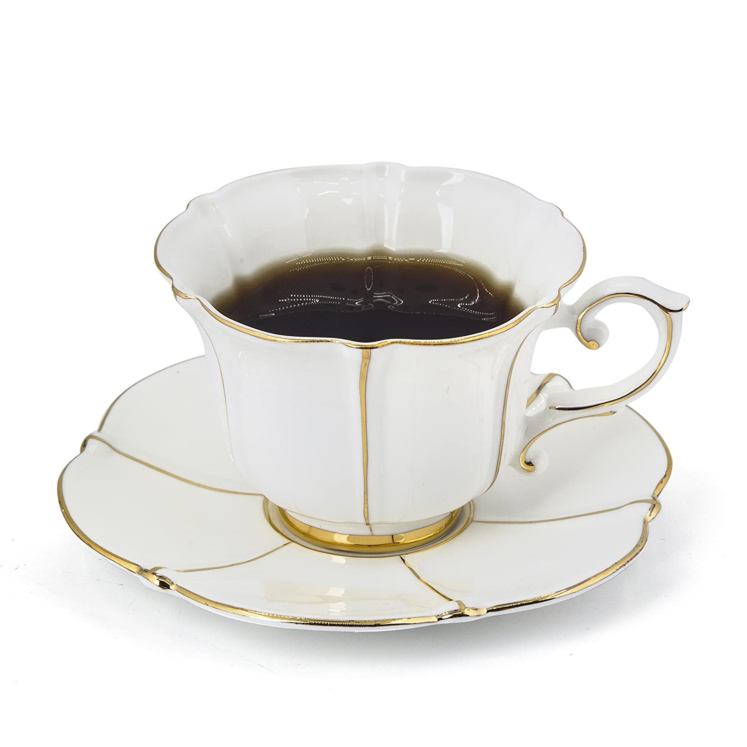 porcelain tea cup and saucer coffee cup set white color with saucer and spoon ebay. Black Bedroom Furniture Sets. Home Design Ideas