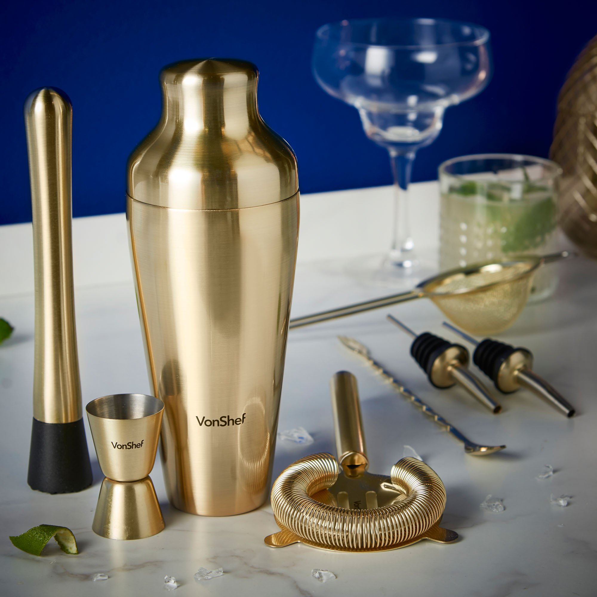 Gold Cocktail Shaker Set
