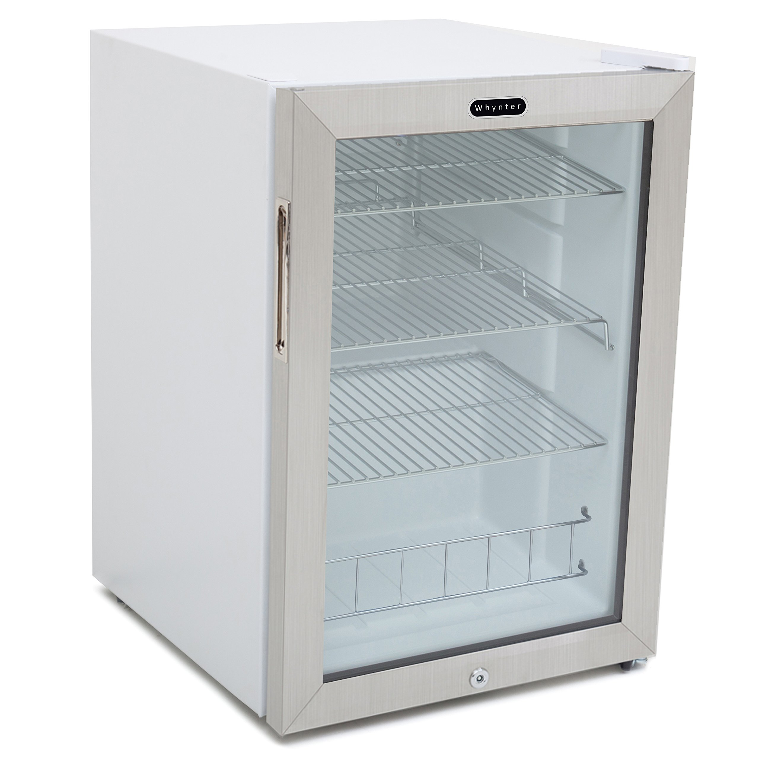 Whynter BR-091WS Beverage Refrigerator with Lock, 90 Can Capacity ...