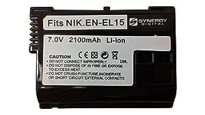 Batería Recargable de litio-ión SDENEL15 - Batería de repuesto de ultra alta capacidad (7.4V 2100 mAh) para Nikon ENEL15 - Compatible con las cámaras digitales Nikon 1 V1, D600, D610, D7000, D7100, D800, D800 SLR, D800E, D810 - Electrónica - Comentarios de clientes y más información