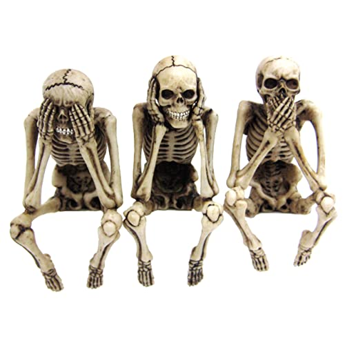 3 Skeleton Computer Toppers