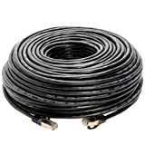 200FT S/FTP CAT 7 Gold Plated Shielded Ethernet RJ45 Cable 10 Gigabit Ethernet Network Patch Cord Cat7 (200ft, Black) (Color: Black, Tamaño: 200ft)